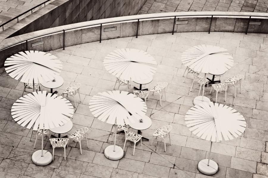 Umbrellas at the Guggenheim